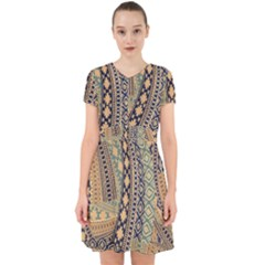 Fancy Colorful Mexico Inspired Pattern Adorable In Chiffon Dress by tarastyle
