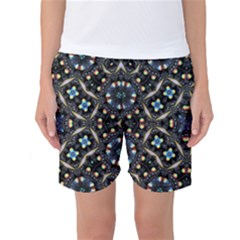 Tile Background Image Pattern Patterns Women s Basketball Shorts