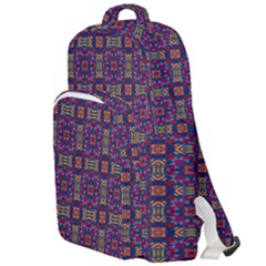 Tile Pattern Background Image Purple Double Compartment Backpack