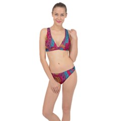 Fancy Colorful Mexico Inspired Pattern Classic Banded Bikini Set  by tarastyle