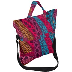 Fancy Colorful Mexico Inspired Pattern Fold Over Handle Tote Bag by tarastyle