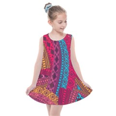 Fancy Colorful Mexico Inspired Pattern Kids  Summer Dress by tarastyle