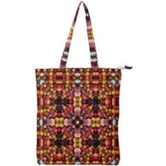 Tile Background Image Creativity Double Zip Up Tote Bag