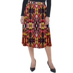 Tile Background Image Creativity Classic Velour Midi Skirt
