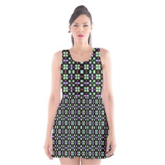 Background Image Pattern Scoop Neck Skater Dress