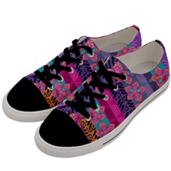 Fancy Colorful Mexico Inspired Pattern Men s Low Top Canvas Sneakers by tarastyle