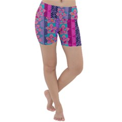 Fancy Colorful Mexico Inspired Pattern Lightweight Velour Yoga Shorts by tarastyle