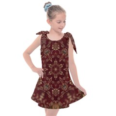 Image Background Pattern Kids  Tie Up Tunic Dress