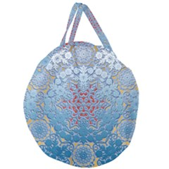 Pattern Background Pattern Giant Round Zipper Tote