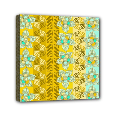 Fancy Colorful Mexico Inspired Pattern Mini Canvas 6  X 6  (stretched) by tarastyle
