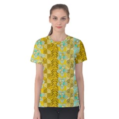 Fancy Colorful Mexico Inspired Pattern Women s Cotton Tee by tarastyle