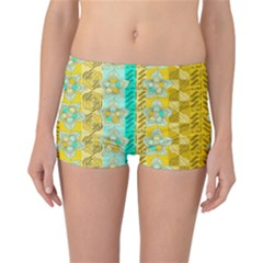 Fancy Colorful Mexico Inspired Pattern Reversible Boyleg Bikini Bottoms by tarastyle