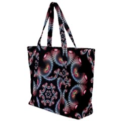 Ornament Kaleidoscope Zip Up Canvas Bag