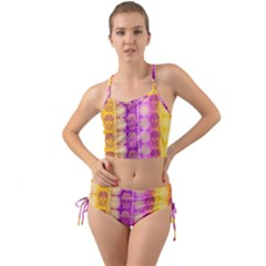 Fancy Colorful Mexico Inspired Pattern Mini Tank Bikini Set by tarastyle