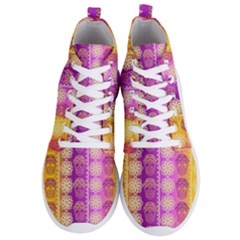 Fancy Colorful Mexico Inspired Pattern Men s Lightweight High Top Sneakers by tarastyle