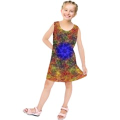 Background Image Tile Abstract Kids  Tunic Dress