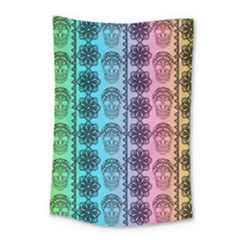 Fancy Colorful Mexico Inspired Pattern Small Tapestry by tarastyle