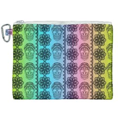 Fancy Colorful Mexico Inspired Pattern Canvas Cosmetic Bag (xxl) by tarastyle