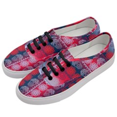 Fancy Colorful Mexico Inspired Pattern Women s Classic Low Top Sneakers by tarastyle