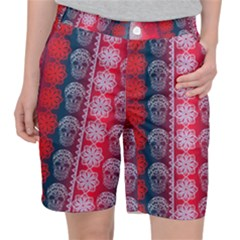 Fancy Colorful Mexico Inspired Pattern Pocket Shorts