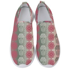 Fancy Colorful Mexico Inspired Pattern Men s Slip On Sneakers by tarastyle