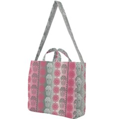 Fancy Colorful Mexico Inspired Pattern Square Shoulder Tote Bag by tarastyle