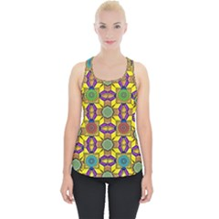 Background Image Geometric Piece Up Tank Top