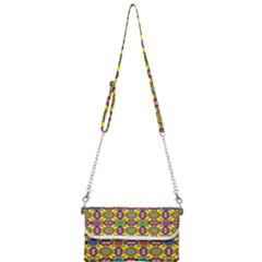 Background Image Geometric Mini Crossbody Handbag