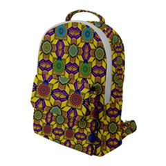 Background Image Geometric Flap Pocket Backpack (large)