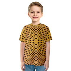 Background Pattern Structure Kids  Sport Mesh Tee