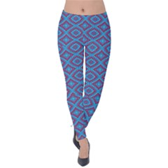 Background  Geometric Pattern Velvet Leggings
