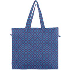 Background  Geometric Pattern Canvas Travel Bag