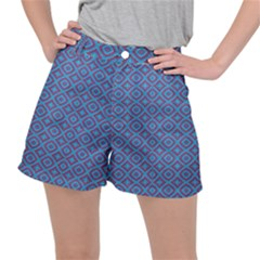 Background  Geometric Pattern Stretch Ripstop Shorts