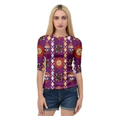 Fancy Colorful Mexico Inspired Pattern Quarter Sleeve Raglan Tee by tarastyle
