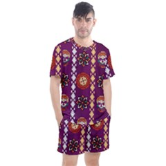 Fancy Colorful Mexico Inspired Pattern Men s Mesh Tee And Shorts Set by tarastyle