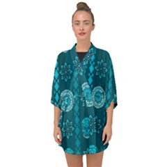 Fancy Colorful Mexico Inspired Pattern Half Sleeve Chiffon Kimono by tarastyle