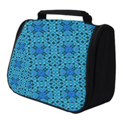 Background Image Tile Pattern Blue Full Print Travel Pouch (small)