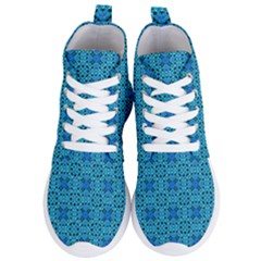 Background Image Tile Pattern Blue Women s Lightweight High Top Sneakers by Pakrebo