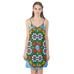 Mandala Background Colorful Pattern Camis Nightgown