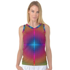 Background Pattern Structure Women s Basketball Tank Top