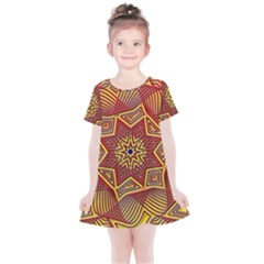 Tile Background Pattern Backgrounds Kids  Simple Cotton Dress