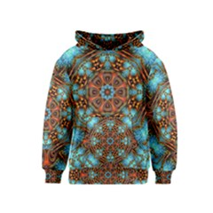 Fractal Background Colorful Graphic Kids  Pullover Hoodie