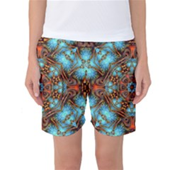 Fractal Background Colorful Graphic Women s Basketball Shorts