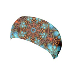 Fractal Background Colorful Graphic Yoga Headband by Pakrebo