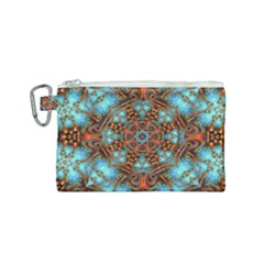 Fractal Background Colorful Graphic Canvas Cosmetic Bag (small)