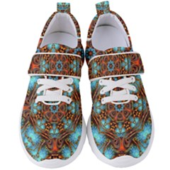 Fractal Background Colorful Graphic Women s Velcro Strap Shoes