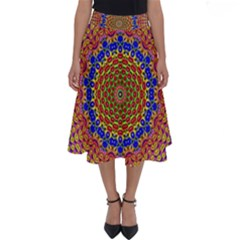 Tile Background Image Ornament Perfect Length Midi Skirt by Pakrebo