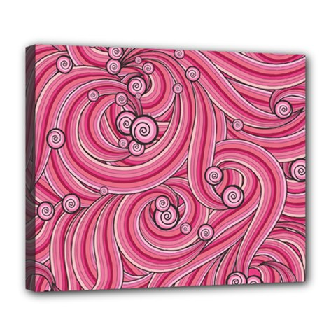 Pattern Doodle Design Drawing Deluxe Canvas 24  X 20  (stretched)