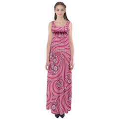 Pattern Doodle Design Drawing Empire Waist Maxi Dress