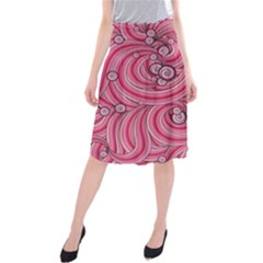 Pattern Doodle Design Drawing Midi Beach Skirt